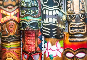 Tiki Masks for the Tourist Trade