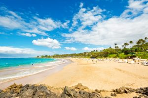 Wailea Beach on the Southwest Shore of Maui Hawaii
